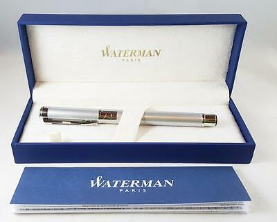 Waterman Perspective Silver CT Trim Roller Ball Pen - Fine Black Ink S0831280