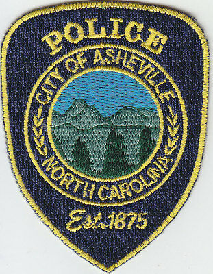 City of Asheville NC North Carolina Police MINI/HAT PATCH Est. 1875/Mountains