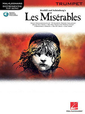 Les Miserables Trumpet Solo Sheet Music 13 Songs Play-Along Book & Online Audio