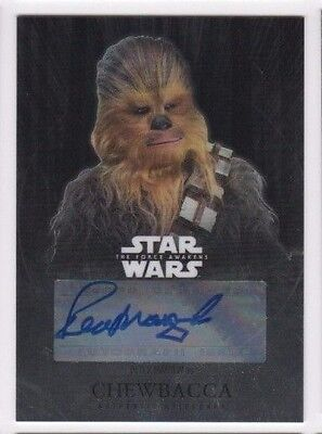 2016 Star Wars Chrome Force Awakens autograph card Peter Mayhew