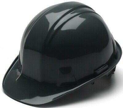Pyramex 4 Point Cap Style Hard Hat with Ratchet Suspension in Black