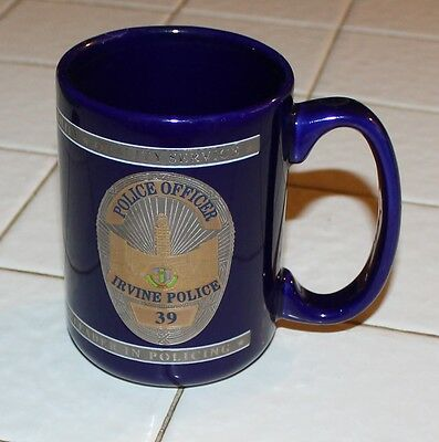 Irvine Police Officer IPD Orange County OC California CA Patch Coffee Mug Cup