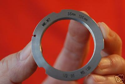 New SM to M Adapter Ring For 35mm & 135mm Leica Lens