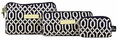 Ju Ju Be Legacy Nautical Be Set The Navigator  3 Bags Pouch Set Baglet NEW