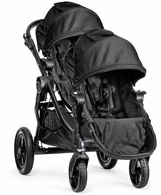 Baby Jogger City Select Twin Tandem Double Stroller 2016 Black w/ Second Seat