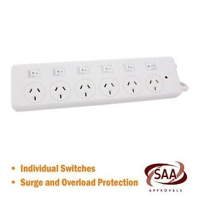 6 Way Powerboard with Individual Switches