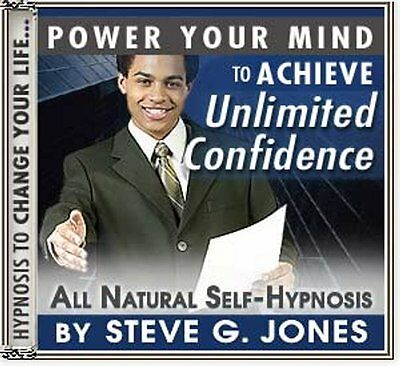 5 cds DR.STEVE G JONES Clinical Hypnotherapist CONFIDENCE SELF HYPNOSIS PACK