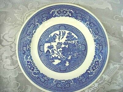 Collectible Vintage 1930's-40's Blue Willow Plate - Made in U.S.A.