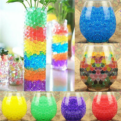 500X Colorful Crystal Mud Soil Water Gel Beads Jelly Ball Flower Plant Decor