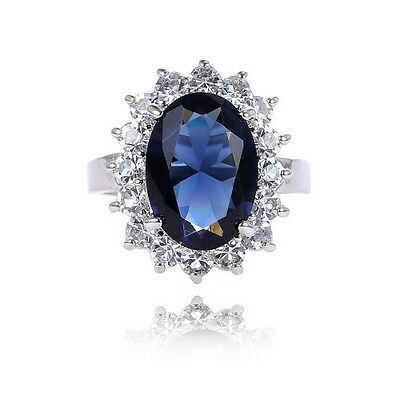 Lady Shinny Kate Princess Diana William Sapphire Ring Women Engagement Ring