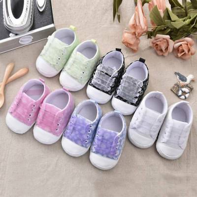 Cute Sneakers Newborn Baby Crib Shoes Boys Girls Infant Toddler Soft Sole 0-18M
