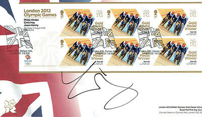 Chris HOY Autograph Signed Official Olympic FDC AFTAL COA Track Cyclist