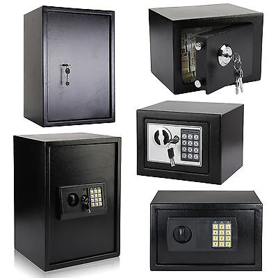 Large / Small Security Electronic Digital / Key Safe Steel Home Money Safety Box