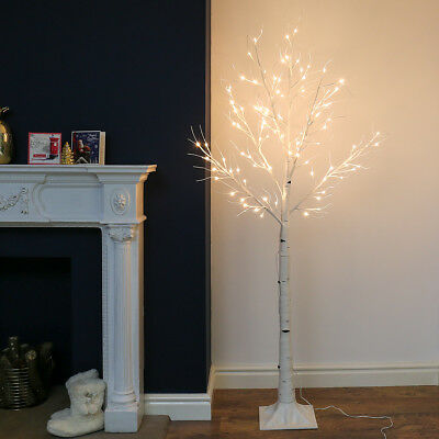 6Ft 1.8M Pre Lit Christmas Chic Birch Twig Wedding Decoration Tree Led Light