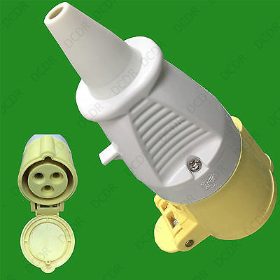 16A 110V Construction Industry IP44 Heavy Duty Ceeform 3 Pin Power Plug Socket