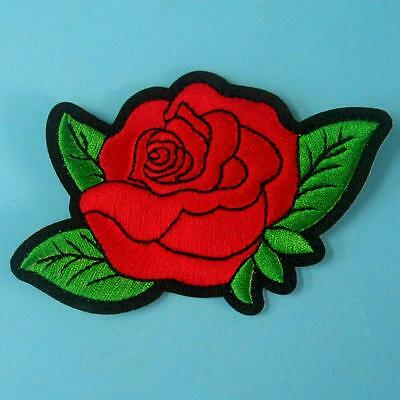 Rose Flower Iron on Sew Collar Patch Cute Applique Badge Embroidered Bust Dress