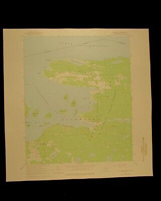 Drummond Michigan Ontario Potagannissing vintage 1978 USGS Topographical chart