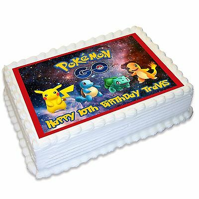 Pokemon Go Personalised A4 Edible Cake Topper