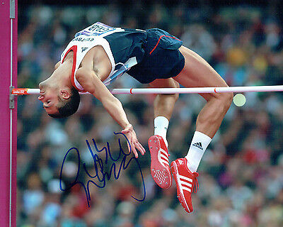 Robert Robbie GRABARZ Olympic High Jumper Autograph Signed 10x8 Photo AFTAL COA