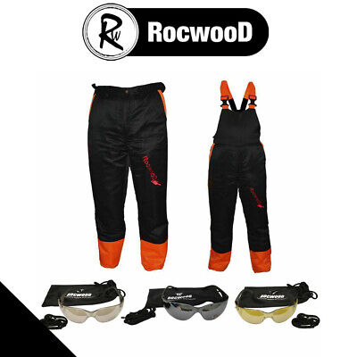 Chainsaw Protection Safety Protection Bib & Brace Or Trousers & Glasses