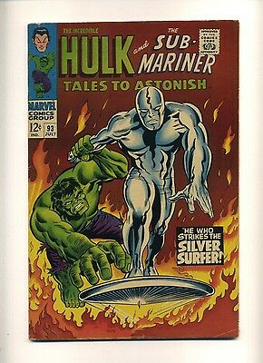Tales to Astonish 93 (Nice!) Hulk vs. Silver Surfer (1st full x-over) (c#08856)