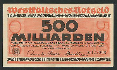 WESTFALEN Münster 500 Milliarden Mark 1923   (1-)