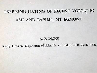 Tree-Ring Dating Recent Volcanic Ash Lapilli Mt Egmont 1966 Book
