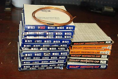 Supco, Bullet Restricto Cap, Copper Capillary tubing, Lot of 17 Assorted boxes