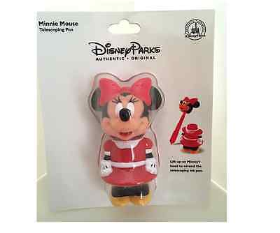 Disney Parks Minnie Mouse Telescoping Figurine Pen NEW