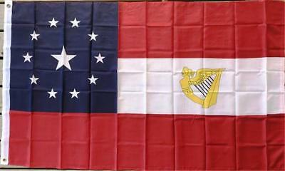 3x5 ft 11 Star 1st National Flag Star in Middle with Irish Harp Confederate Flag