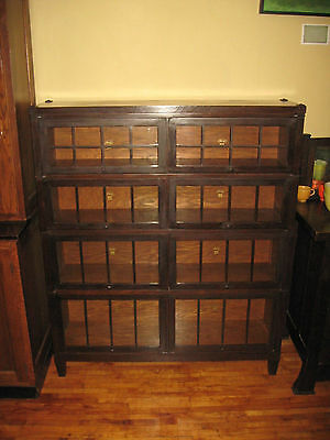 WE SHIP! Macey Mission Oak Double Wide 4 Stack Bookcase Arts & Crafts Barrister