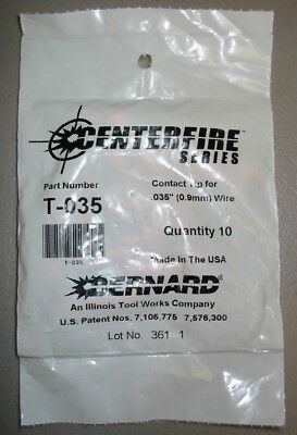 Bernard Genuine Centerfire Series T-035 Contact Tips .035 - Qty 10