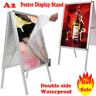 A2 A-Board Pavement Sign Poster Snap Frame Outdoor Shop Sign Display Stands UK