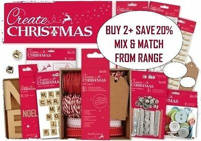 CREATE CHRISTMAS Docrafts Festive Essentials Paper Craft Collection Full Range