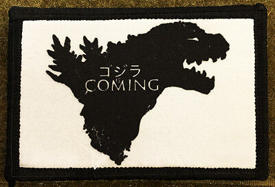 Game of Thrones GODZILLA is Coming Morale Patch Tactical Military Army Badge USA