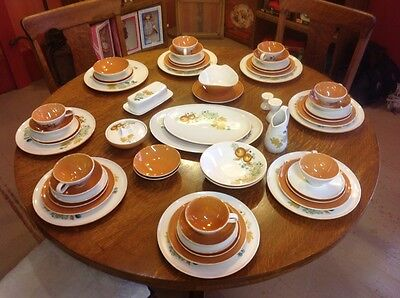 VTG Mid-Century Modern 58 PCS Set IROQOUIS China Ben Siebel Informal OLD ORCHARD