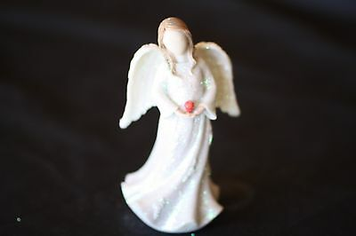 Birthstone Angel - July, Devotion & Integrity, White with Red stone,  (AG023)