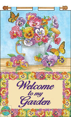Jeweled Banner Kit ~ Design Works Floral Watering Can Welcome Banner #DW4191