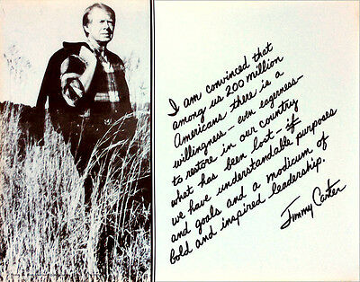 Official 1976 Jimmy Carter INSPIRED LEADERSHIP Quotation Campaign Poster (5180)