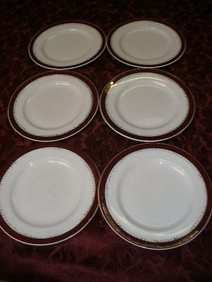 Retro Porcelain Side Plates X 6  Alfred Meakin Made In England