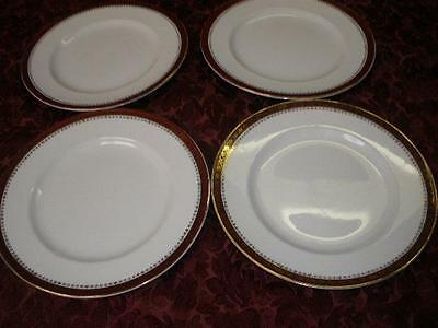 Retro Porcelain Dinner Plates X 4  Alfred Meakin Made In England