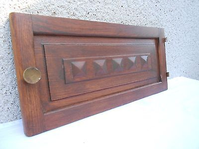 French Vintage OAK Carved CABINET FURNITURE DOOR