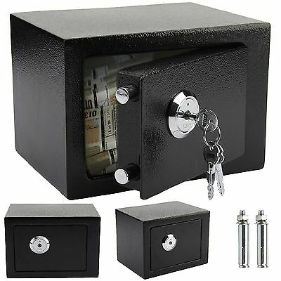 High Security Steel Safes Key Lock Safety Box Home Office Money Cash Gun Safe L