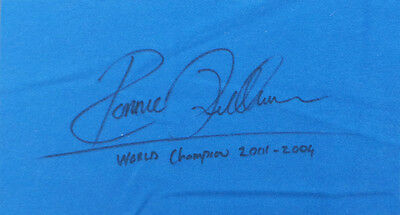 Ronnie O'SULLIVAN HUGE Signed Snooker Baize Autograph World Champion AFTAL COA