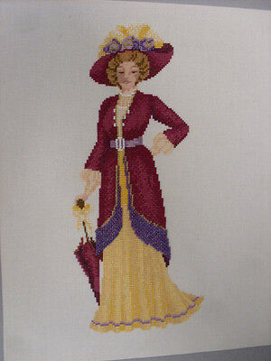 Completed Cross Stitch Victorian Lady