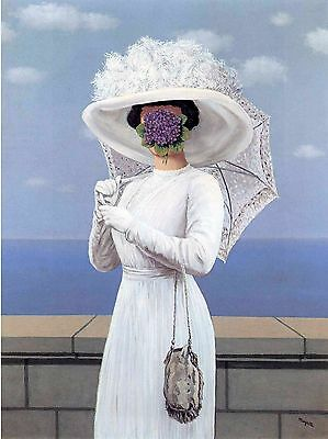 """The Great War . RENE MAGRITTE. 22""""x 28"""" ART Reproduction CANVAS-PRINT"""