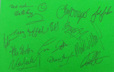 13 World Snooker Champions Signed Autograph Green Baize AFTAL COA Alex HIGGINS
