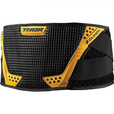 Thor 2017 Adults Clinch MX Motocross Offroad Kidney Belt - Yellow/ Black