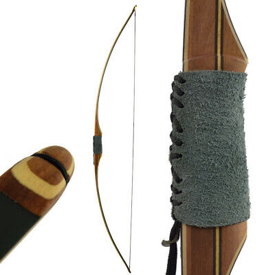 Langbogen traditioneller Longbow Dragon Black - 68 Zoll - 35-60 lbs - mit Sehne