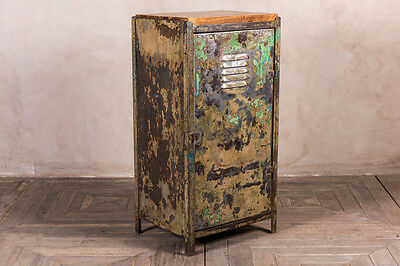 Unique Industrial Locker Cabinet Vintage Worn Metal Cabinet Storage Cupboard